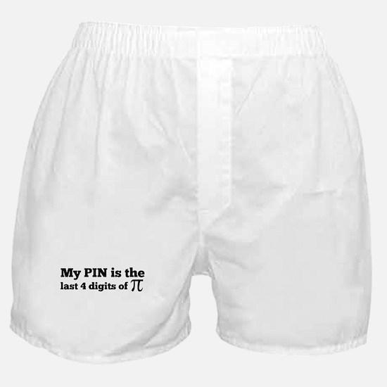 my pin last 4 digits of pi Boxer Shorts