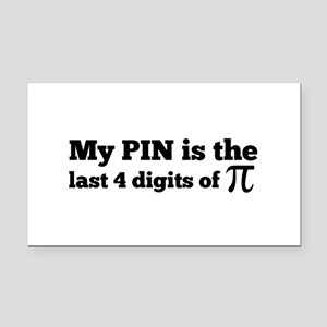 my pin last 4 digits of pi Rectangle Car Magnet