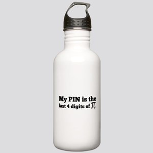 my pin last 4 digits of pi Water Bottle