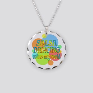 Salsa Colors My World Necklace Circle Charm