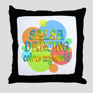Salsa Colors My World Throw Pillow