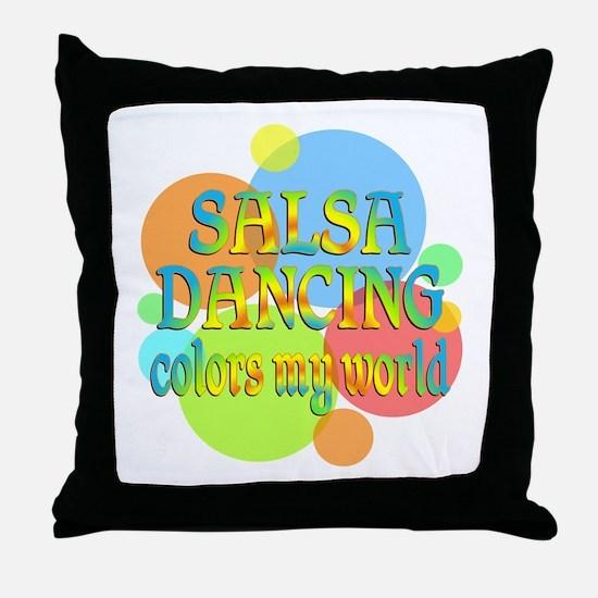 Salsa Colors My World Throw Pillow