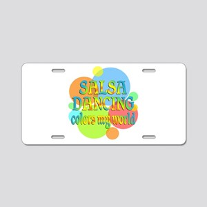 Salsa Colors My World Aluminum License Plate
