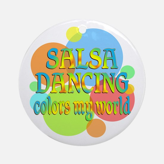Salsa Colors My World Ornament (Round)