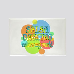 Salsa Colors My World Rectangle Magnet