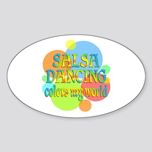 Salsa Colors My World Sticker (Oval)