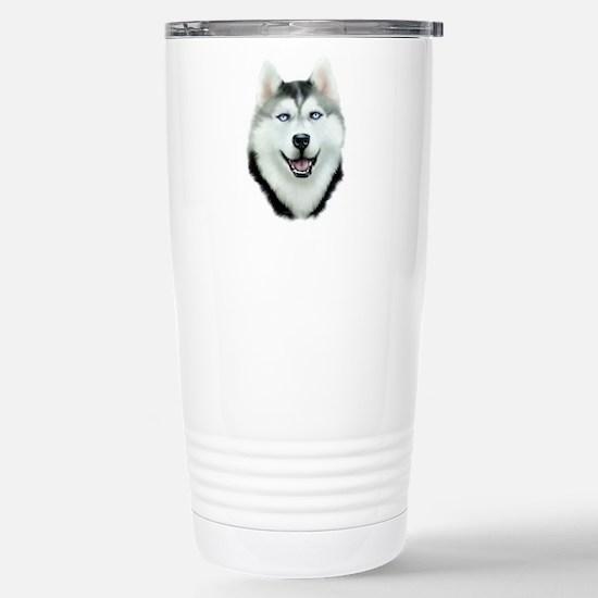 Siberian Husky Stainless Steel Travel Mug