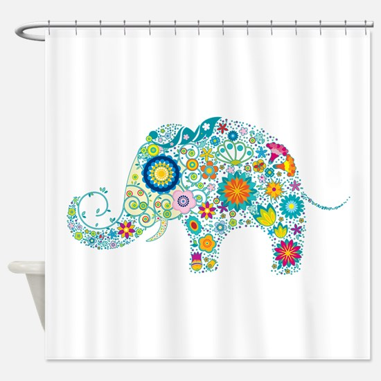 Cool Elephant Shower Curtain