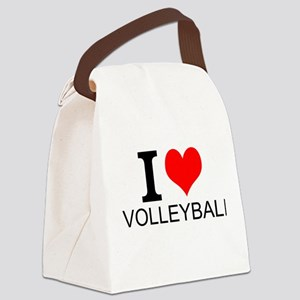 I Love Volleyball Canvas Lunch Bag