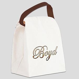 Gold Boyd Canvas Lunch Bag
