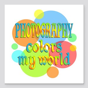 """Photography Colors My Wo Square Car Magnet 3"""" x 3"""""""