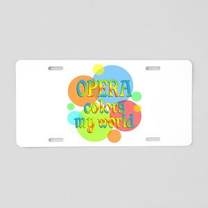 Opera Colors My World Aluminum License Plate