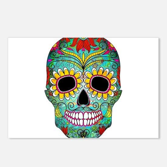 Funny Sugar skull Postcards (Package of 8)
