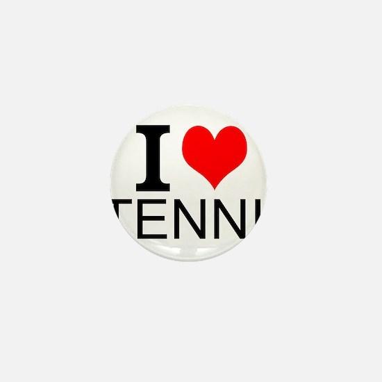 I Love Tennis Mini Button