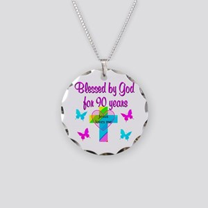 CHRISTIAN 90TH Necklace Circle Charm