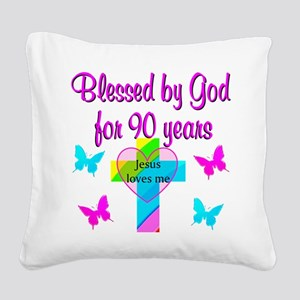CHRISTIAN 90TH Square Canvas Pillow