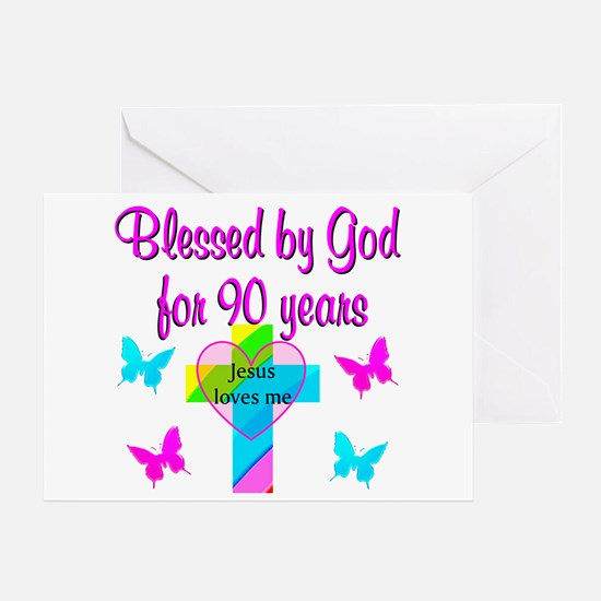 CHRISTIAN 90TH Greeting Card