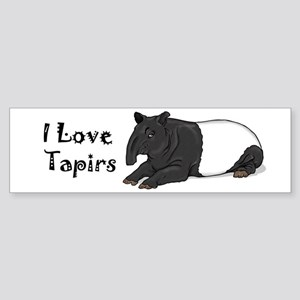 Smiling Tapir Bumper Sticker
