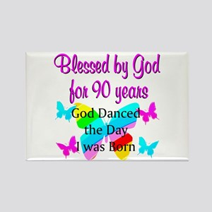 90TH GODS LOVE Rectangle Magnet