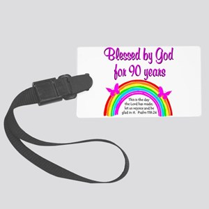 PRECIOUS 90TH Large Luggage Tag