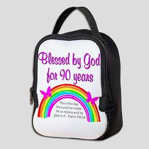 PRECIOUS 90TH Neoprene Lunch Bag