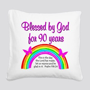 PRECIOUS 90TH Square Canvas Pillow