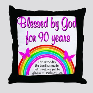 PRECIOUS 90TH Throw Pillow