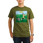 Lawn-bot 3000 Organic Men's T-Shirt (dark)