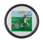 Lawn-bot 3000 Large Wall Clock