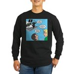Houseboat Pirate Long Sleeve Dark T-Shirt