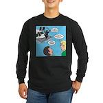 Houseboat Pirate Long Sleeve Dark T-Shirt