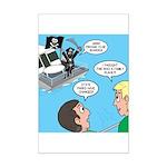 Houseboat Pirate Mini Poster Print