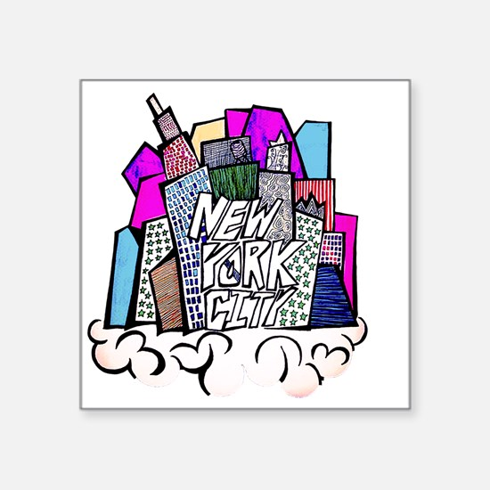 "nyc bish  Square Sticker 3"" x 3"""