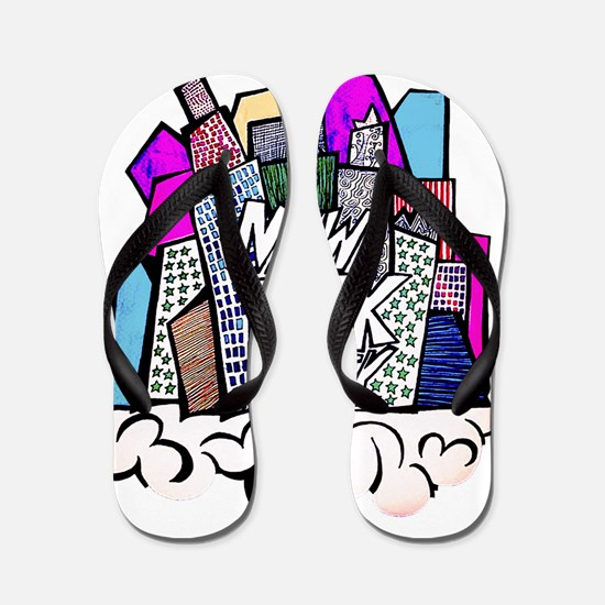 nyc bish  Flip Flops