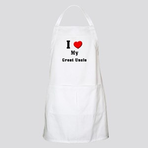 I Love Great Uncle BBQ Apron