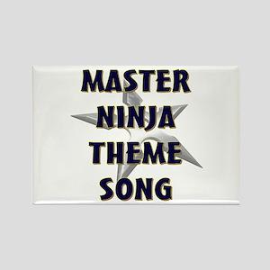 Master Ninja Rectangle Magnet