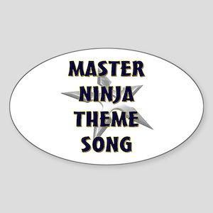 Master Ninja Oval Sticker