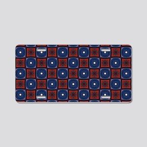 Red and Navy Retro Style Pa Aluminum License Plate