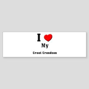 I Love Great Grandson Bumper Sticker