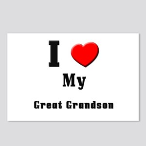 I Love Great Grandson Postcards (Package of 8)