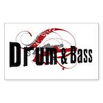 Drum and Bass Mafia Rectangle Sticker