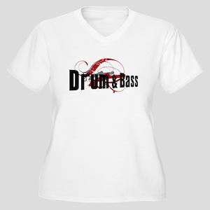 Drum n Bass Women's Plus Size V-Neck T-Shirt