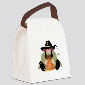 Spider Witch Canvas Lunch Bag