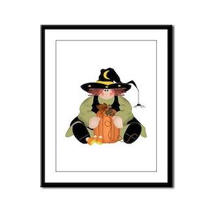 Spider Witch Framed Panel Print