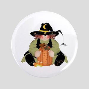 """Spider Witch 3.5"""" Button"""