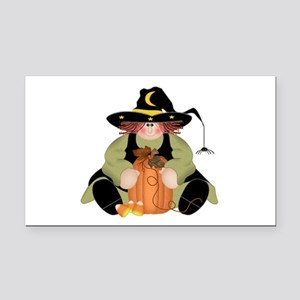Spider Witch Rectangle Car Magnet
