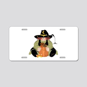 Spider Witch Aluminum License Plate