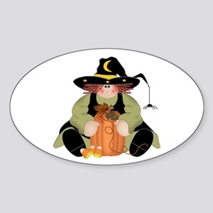 Spider Witch Sticker (Oval)