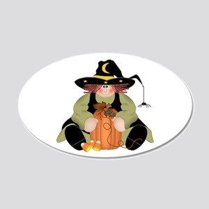 Spider Witch 20x12 Oval Wall Decal