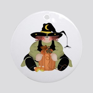 Spider Witch Ornament (Round)